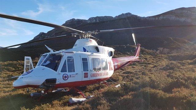 Helicóptero en Los Collados del ASón