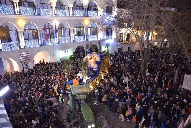La cabalgata de Reyes Magos de Osuna el año pasado