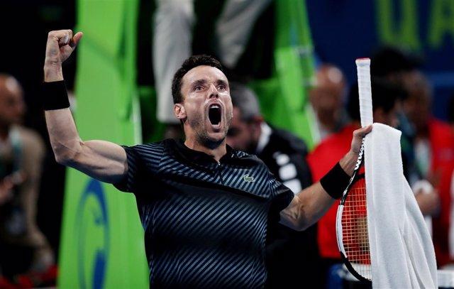El tenista español Roberto Bautista, en el torneo de Doha (Catar)
