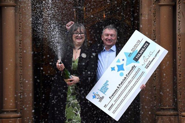 La pareja irlandesa ganadora del Euromillón