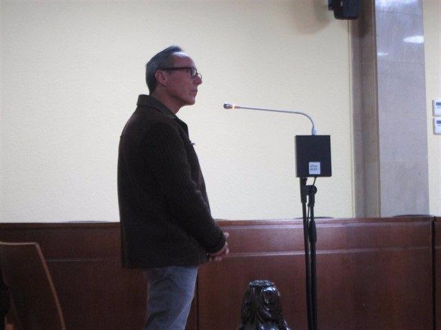 El condenado durante su juicio en la Audiencia de Jaén