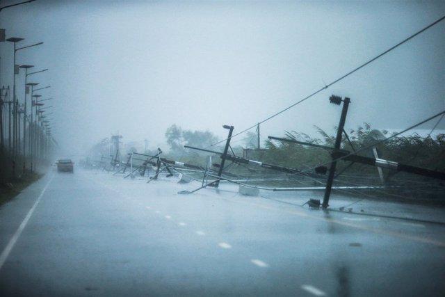 Tormenta tropical Pabuk en Tailandia