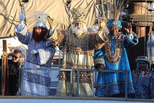 Els Reis Mags d'Orient en la Cavalcada de Barcelona