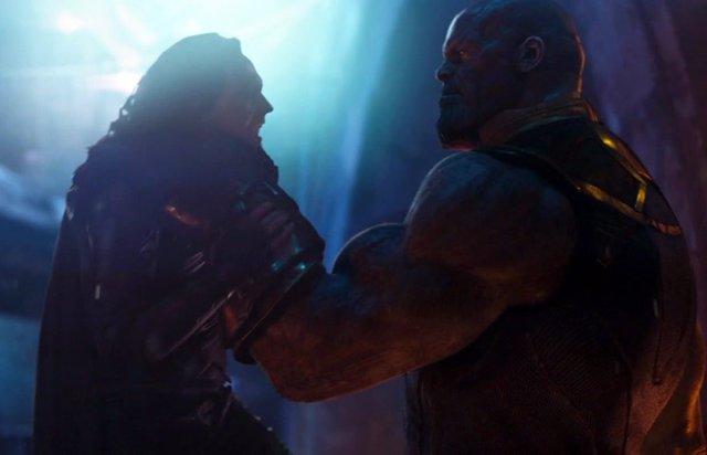 Thanos y Loki en Vengadores: Infinity War