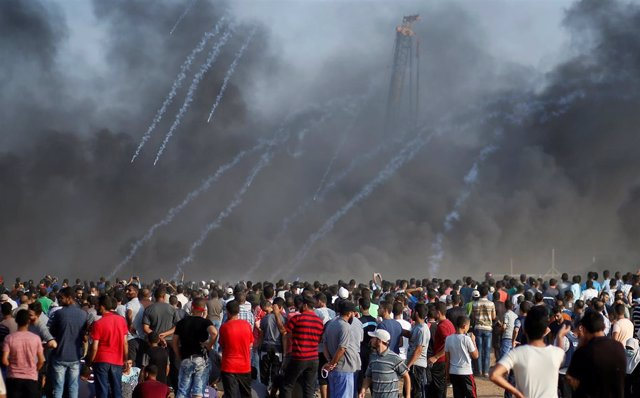 Protestas palestinas en la Franja de Gaza