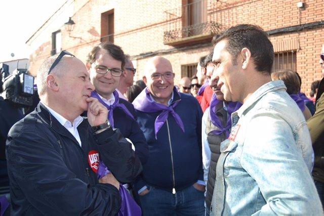 Faustino Temprano y Vicente Andrés, secretarios generales de UGT y CCOO en CYL