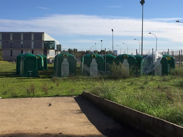 Contenedores de vidrio en Badajoz