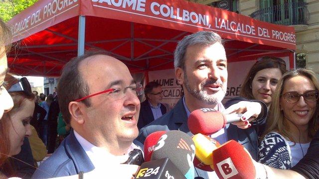 Miquel Iceta y Jaume Collboni
