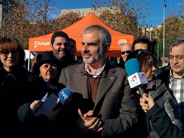 El portaveu de Cs en el Parlament, Carlos Carrizosa