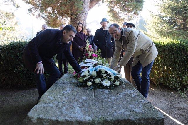 Román Rodríguez y Martiño Noriega en 83 aniversario de la muerte de Valle-Inclán