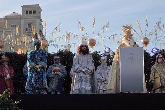 Els Reis Mags Baltasar, Gaspar i Melchor a Barcelona