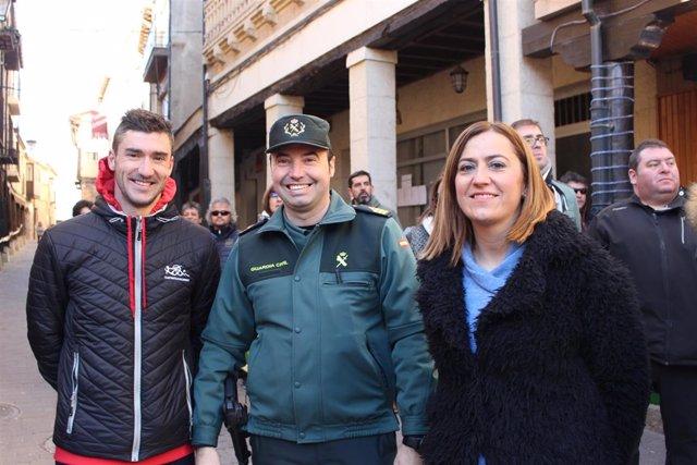 Virginia Barcones en la carrera de Reyes de San Esteban de Gormaz (Soria)