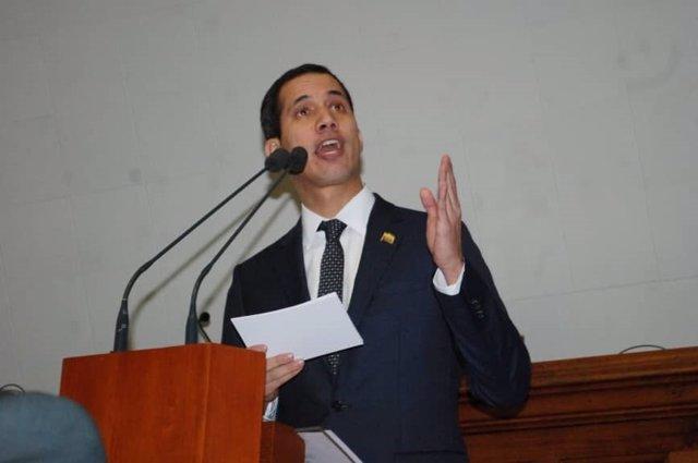 El nuevo presidente de la Asamblea Nacional opositora venezolana, Juan Guaidó