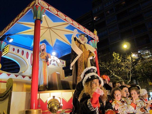REy Melchor en la Cabalgata de los Reyes Magos