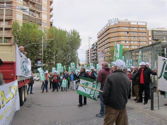Última protesta por la presa de Siles (Archivo)