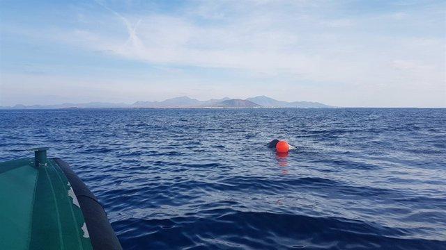 Embarcación hundida este viernes en Lanzarote