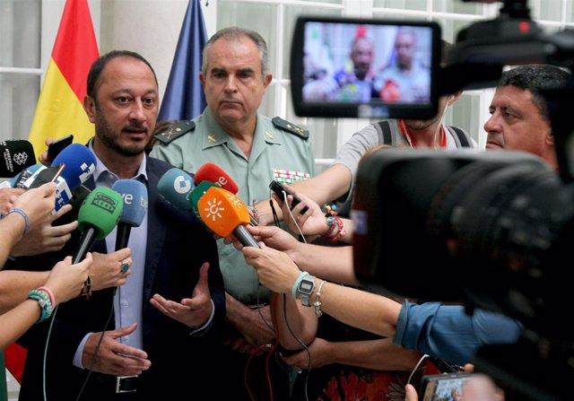 Alfonso Rodríguez Gómez de Celis atiende a periodistas