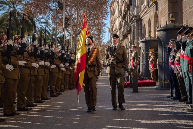 L'inspector general de l'Exrcit F.Aznar Lladre de Guevara presideix la Pasqua L