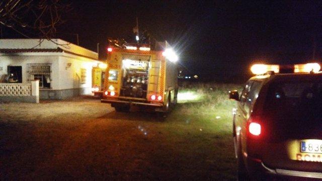 Vivienda de Chipiona afectada por un incendio la noche del 5 de enero
