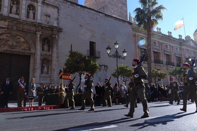 Desfile de las Fuerzas Armadas en la Pascua Militar de València 2019