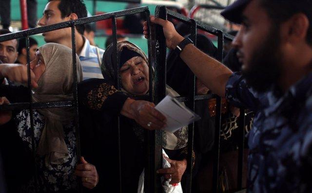 Pasó de Rafá, entre la Franja de Gaza y Egipto