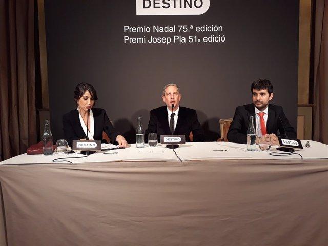 Lídia Heredia(periodista),Guillermo Martínez(Premi Nadal),Marc Artigau(Premi Pl