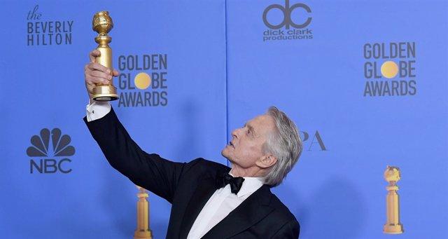 Michael Douglas en los Globos de Oro
