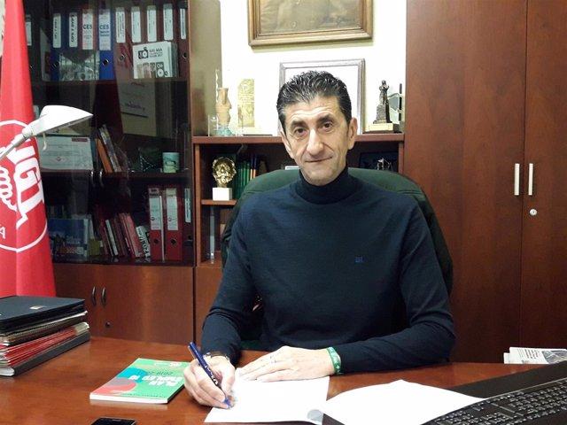 Sebastián Donaire, secretario general de UGT en Huelva.