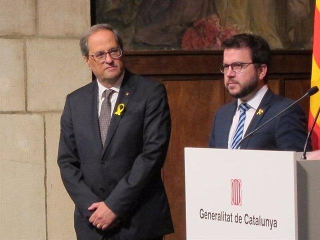 El vicepresidente de la Generalitat de Cataluña, Pere Aragons