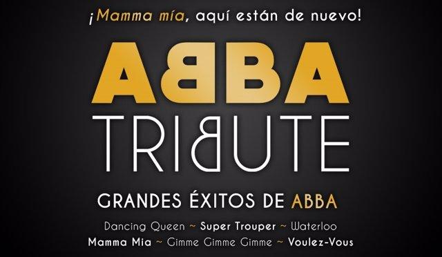 Cartel del espectáculo-tributo a 'ABBA' en Badajoz