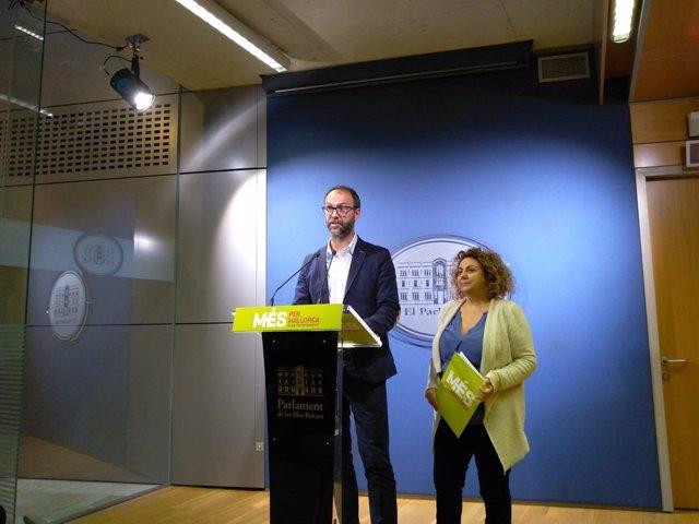 Diputados de MÉS, Miquel Gallardo y Joana Aina Campomar