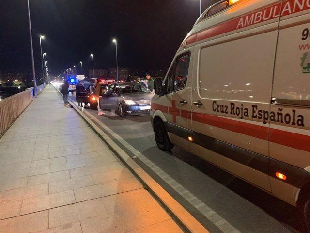 Intervención de Cruz Roja durante el Operativo de Navidad en Badajoz