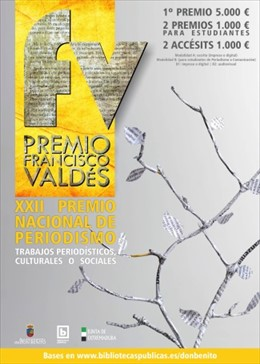 Cartel del XXII Premio Nacional de Periodismo 'Francisco Valdés'
