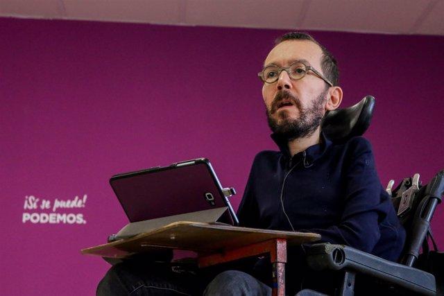 El secretari d'Organització de Podem, Pablo Echenique
