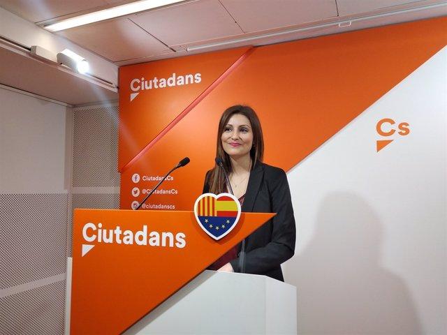 La diputada de Cs Lorena Roldán