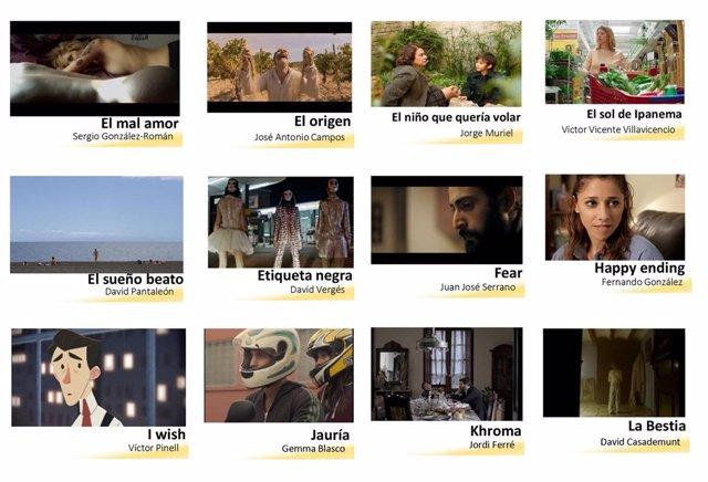 Cortometrajes  que optarán al Premio del Jurado en el VI ManzanaREC
