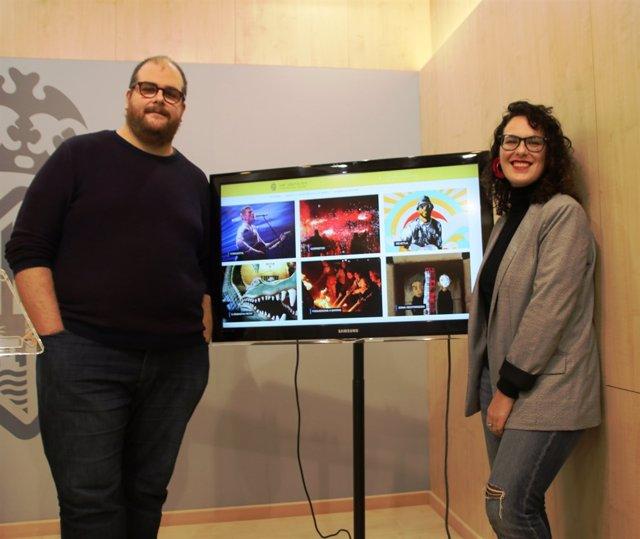 Regidora de Participació Ciutadana, Eva Frade, i assessor municipal Miquel Ferre