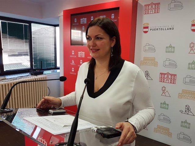 La alcaldesa de Puertollano, Mayte Fernández