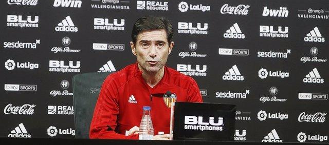 El entrenador del Valencia CF, Marcelino García Toral