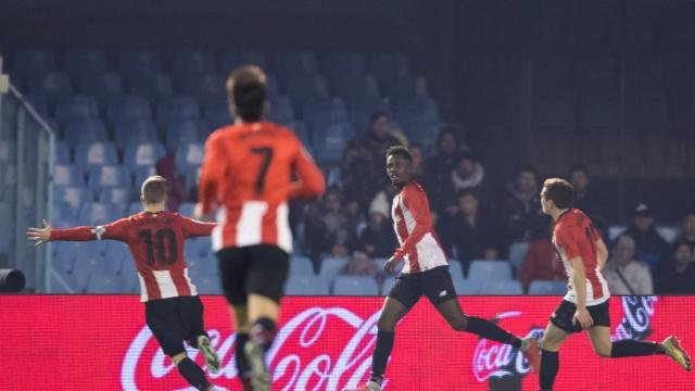 Williams celebra con Muniain el 1-2 en el Celta-Athletic