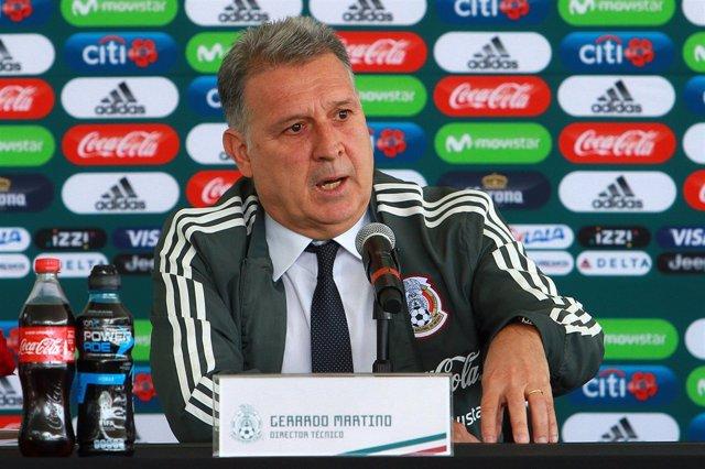 Gerardo Martino en su presentación como seleccionador de México