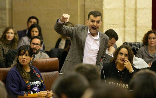 Antonio Maíllo interviene en la sesión constitutiva del nuevo Parlamento andaluz