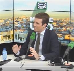 Entrevista en Onda Cero al presidente del PP, Pablo Casado