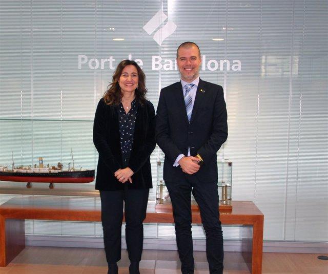 Mercè Conesa (Puerto de Barcelona) y Josep Maria Cruset (Puerto de Tarragona)