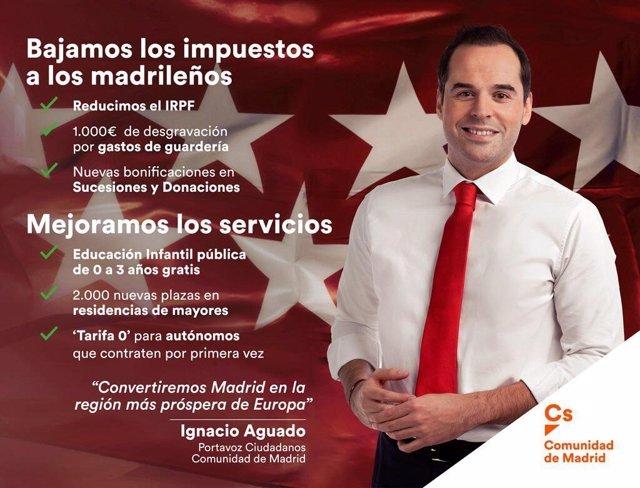 IGNACIO AGUADO EN UNA PUBLICIDAD DE METRO DE MADRID