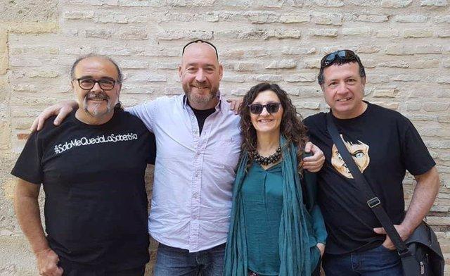 Antonio Saura, Manuel de Reyes, Esperanza Clares,  Fulgencio M. Lax