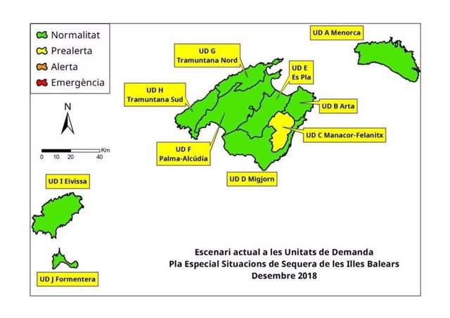 Mapa UD Islas Baleares