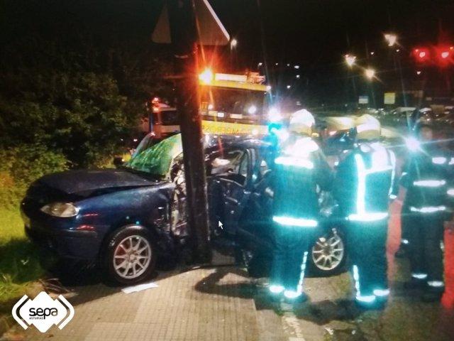 Accidente tráfico en Avilés.