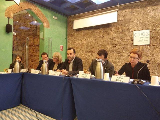 Ckart Woertz, Carme Colomina, Pol Morillas, Eduard Soler y Anna Ayuso