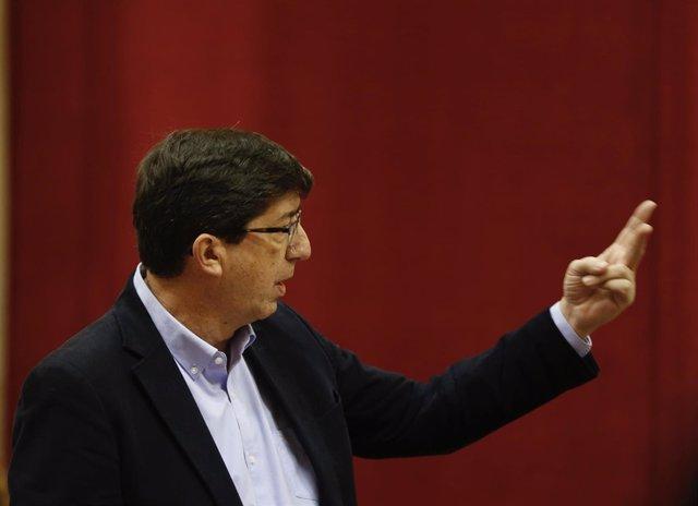 Juan Marín, hoy en el Pleno del Parlamento